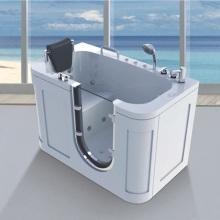 Banheira de hidromassagem para idosos com box de vidro no banheiroTubins
