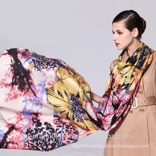 Fashion floral print handmade 100% wool winter muffler