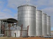 Flat bottom grain storage steel silo cost