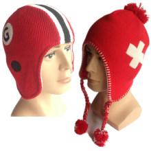 100% акриловые Специальные Пряжа трикотажные Высокое качество Лучшие цены Вязание Earflap Женская Earflap шапочка