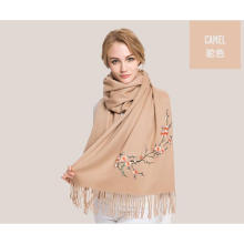 écharpe en laine chaude couleur chameau