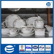 86pcs или 121pcs королевский золотой круглый новый костяной фарфор посуда набор