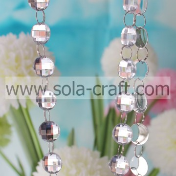 Made In China White 22mm Plastic Teardrop Crystal Prism For Chandelier Accessories