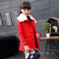 weißer Pelzkragenmädchenmantel-Winterjacken zweireihige Kinderwinterkleidungs-neues Jahr, das Parteijacken heißen Verkauf feiert