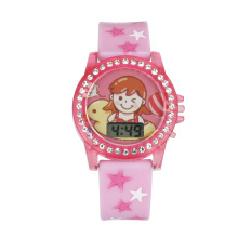 wristwatches and digital watch LCD Watch with PVC watch band