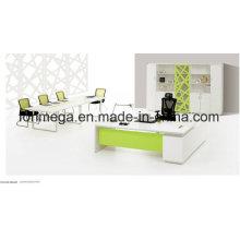 White L-Shape Office Executive Table Set (FOH-ED-M2420)