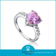Imitar en forma de flor de diamantes anillos de compromiso
