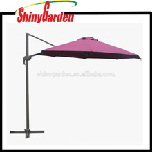 Elegante paraguas giratorio de jardín, sombrilla