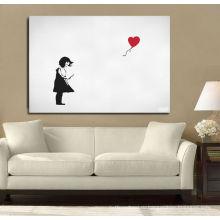 Дети Холст печати воздушный шар Девушка в белом