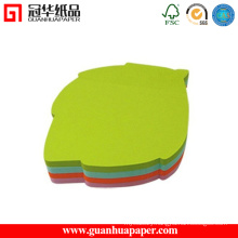 50 Sheets Custom Green Leaf Shaped Sticky Note Pad
