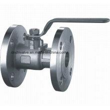 Válvula de esfera de flange de aço inoxidável 1PC