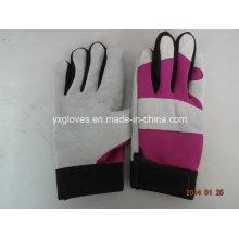 Handschuh-Mechaniker Handschuh-Leder Handschuh-Leder Arbeitshandschuh-Handgeschützter-Kuh Leder Handschuh