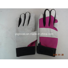 Glove-Mechanic Glove-Leather Glove-Leather Working Glove-Hand Protected-Cow Leather Glove