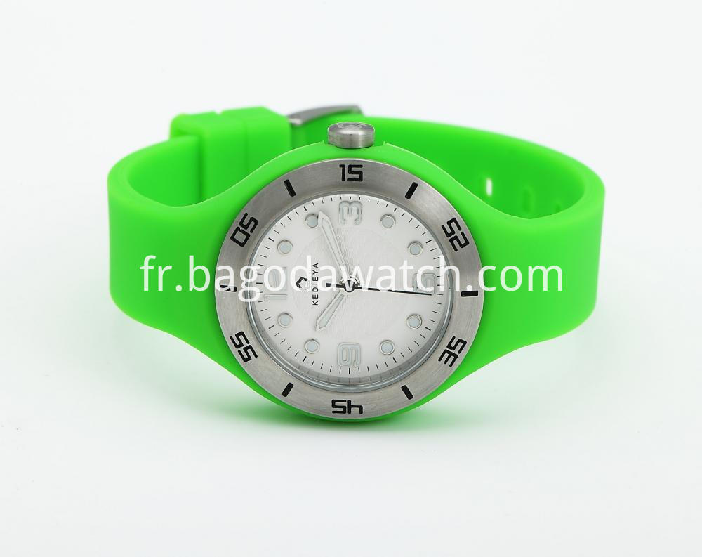 Silicone Strap Watch For Women
