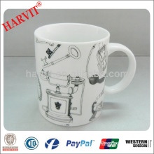 fine bone china cups mugs /plain white porcelain mugs/Printing New Bone China mug