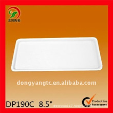 9 Inch porcelain white square plate