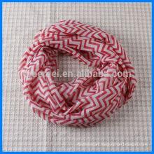 Print polyester chevron infinity scarf