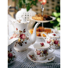 Japanese Korean style dinner set cup & saucer bone china mug coffee tea set pot