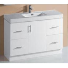 Sanitary Ware White Gloss MDF Bathroom Vanity (P6011-1200W)