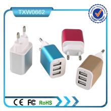 3 portas USB carregador de parede plugue da UE para samsung