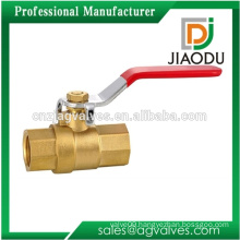 best sale forged npt 200 600 1000 wog female threaded steel handle brass ball valve for water brass foundry
