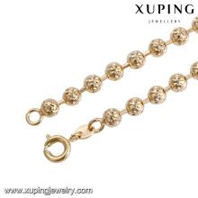 43820 atacado china moda nigeriano frisado mulheres jóias 18 k delicat elegante banhado a ouro colar de jóias