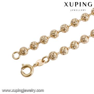 43820 vente en gros de bijoux en perles de perles nigériennes pour femmes de mode 18k delicat élégant collier de bijoux en plaqué or