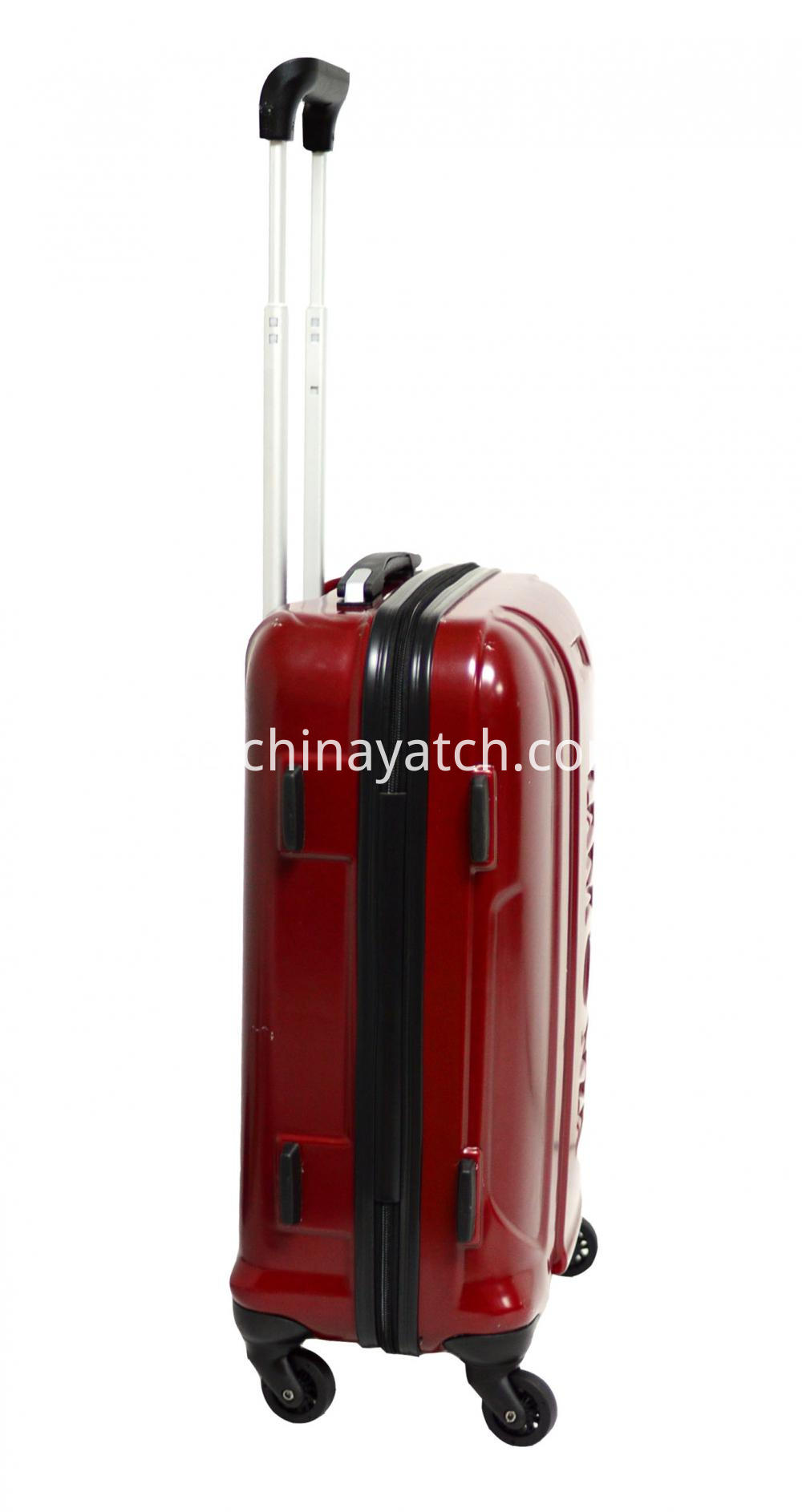 Dull Sliver Aluminum Tube Trolley Case
