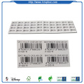 White Waterproof Barcode Sticker Printing