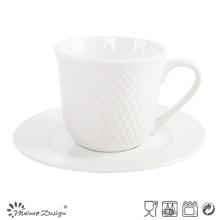 Juego de té de porcelana de 8 oz con diseño en relieve