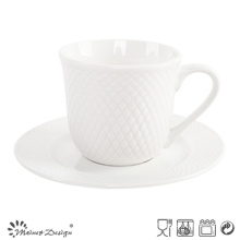 8oz Porcelain Tea Set Embossed Design