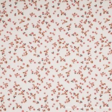 Tissu 100% polyester et élasthanne côtelé