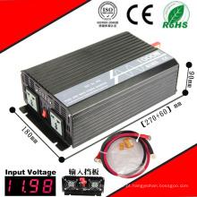 Inversor 12VDC da CC-CA 1200W ou 24VDC ao inversor puro da onda de seno 110VAC ou 220VAC
