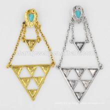 Top vendendo senhoras exagerada retro turquesa pingente geométrico brincos jóias SSEH010