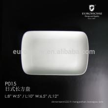 P015 plaque coupé céramique, plaque céramique, plateaux en céramique