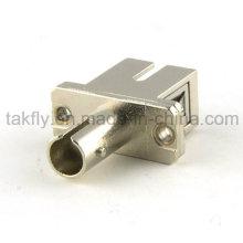 Adaptador de fibra óptica / Adaptador de fibra óptica SC-St Sm Sx Hybird