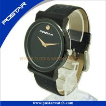 Normalmente reloj de forma redonda con chapado en negro IP Psd-2781