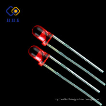red transparent led blub, 3mm dip lamp led for indicator light