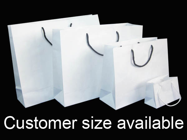 Cheap White Paper Gift Bags