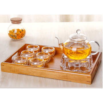 fire resistant pyrex teapot warmer set