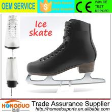 2015 novo design frio resistência a lâmina de aço inoxidável sapatos de patinação no gelo