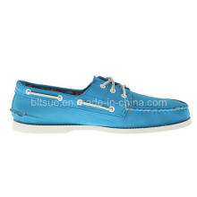 Young Man Blue Baot Leather Shoes