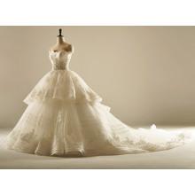 Eine Linie Streifen Hochwertige Hochzeitskleid