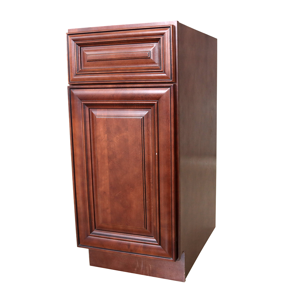 Solid Wood Kitchen Cabinet With Island