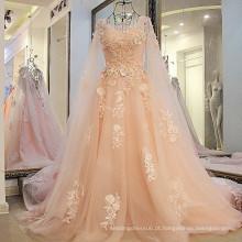 LS27713 Real Fabricante Mais recente Designer Light Pink Lace Bulk Vestuário Prom Fress grosso