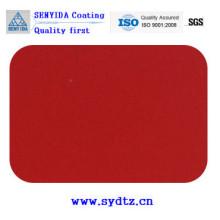Pulverlackfarbe von fluoreszierend transparentem Rot