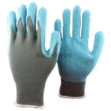 NMSAFETY 13 jauge en nylon gris revêtement enduit bleu latex gant de jardin outil à main