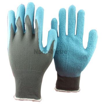 NMSAFETY 13 gauge nylon forro de nylon azul revestido luva de jardim mão luva ferramenta