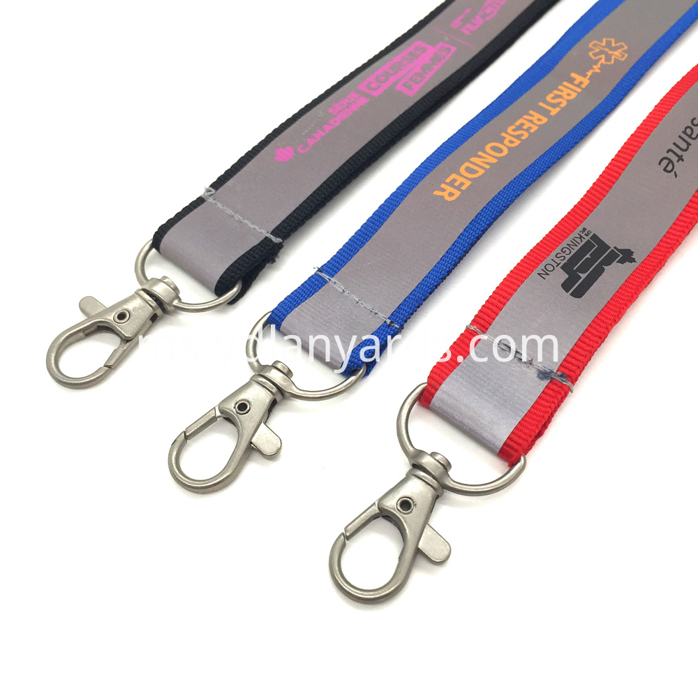 Silk-Screen Reflective Lanyards