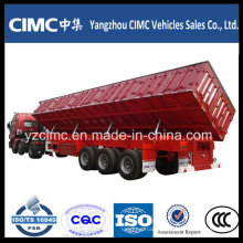 Cimc 60t 3 Axles Side Dump Semi Trailer / Dumper Truck Trailer